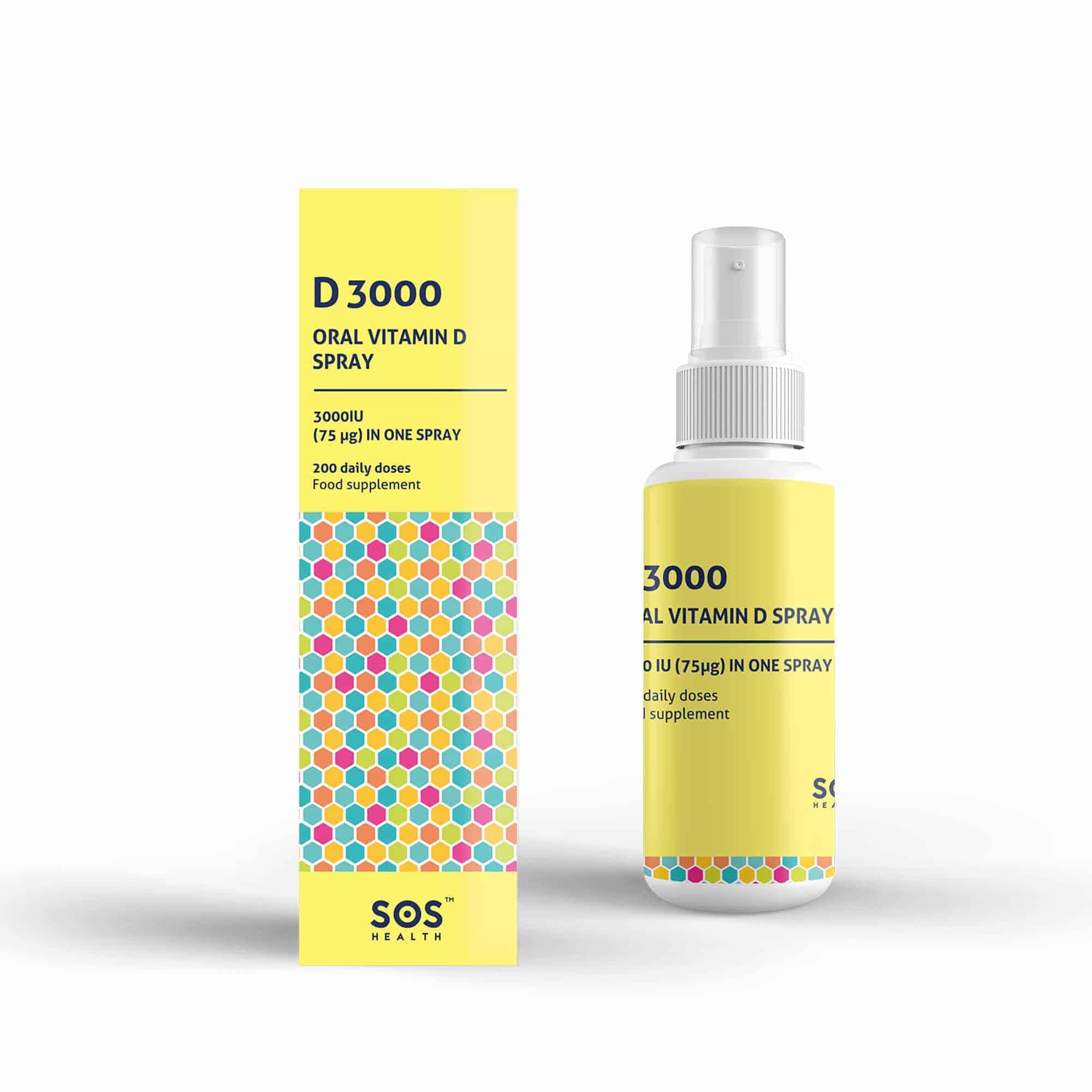 plocka upp begränsad garanti säljs över hela världen SOS Health: D3000 Vitamin D Spray for Adults | Ambermed